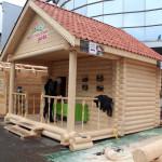 Дом из оцилиндрованного бревна от компании «Ярославская дача» на выставке «Загородный дом 2015»