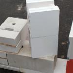 Типоразмеры увеличенного силикатного блока: удвоенная высота и ширина
