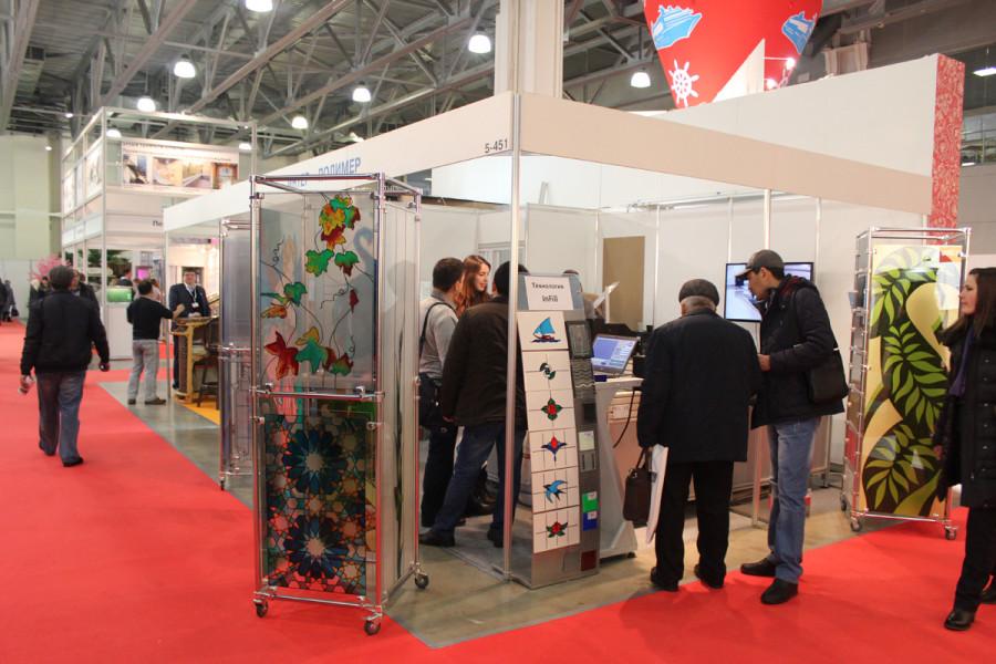 Стенд компании Интер-Полимер на выставке Batimat Russia 2015