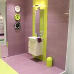 Интерьер ванной комнаты компании Keramin (производство керамической сантехники и плитки)