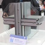 Образец глухого витражного остекления со стеклопакетом 54 мм