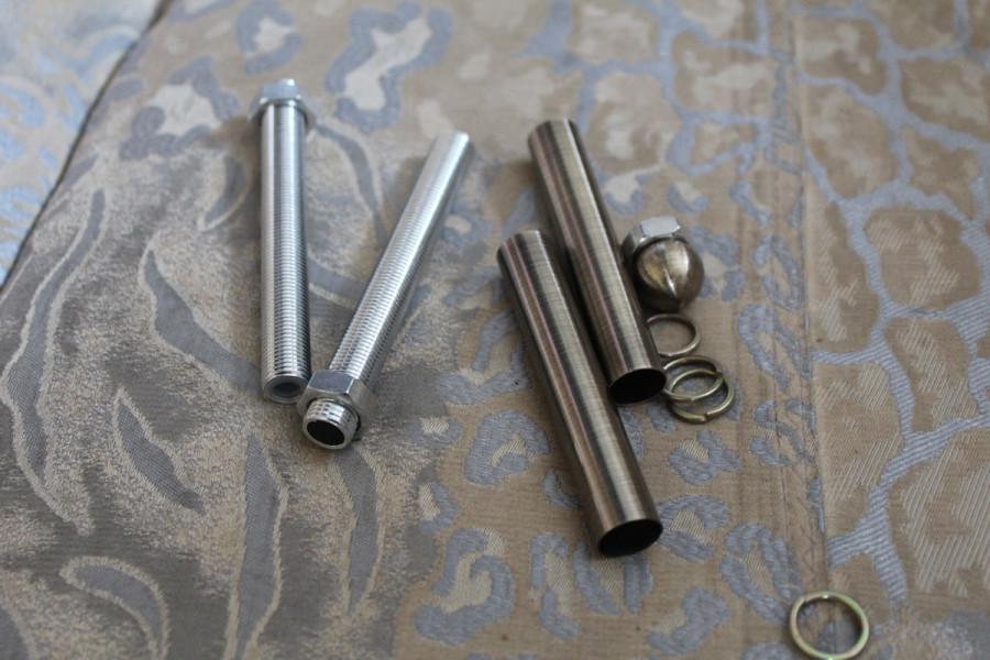 Фото – Полые трубки для крепления каркаса люстры