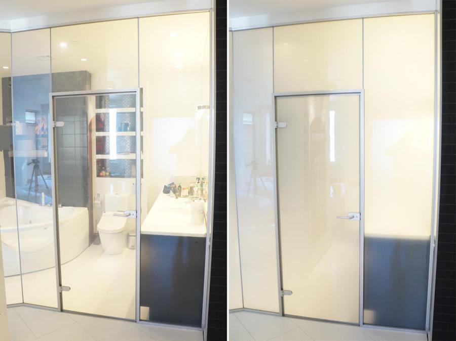 Применение электрохромного стекла в ванной комнате