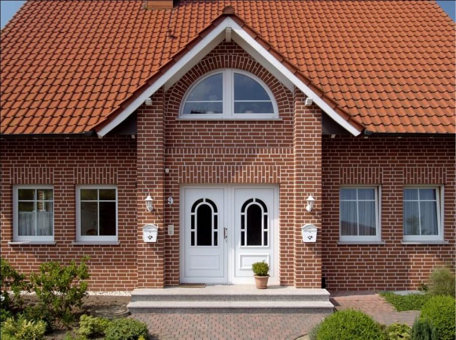 Отделка стен дома фасадными термопанелями с клинкерной плиткой