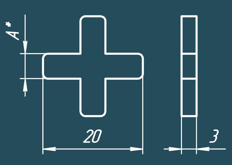 Какой размер крестика для плитки