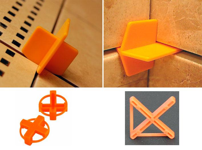 Пластиковые крестики для плитки с перемычками