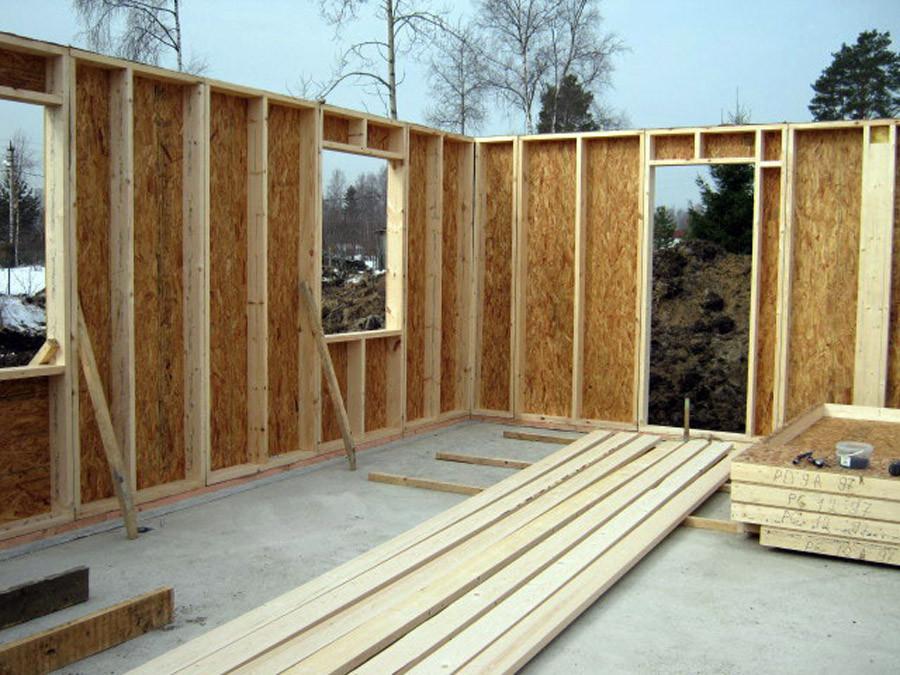 Возведение каркасно-щитового дачного дома