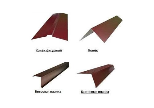 Разные виды ветровых планок