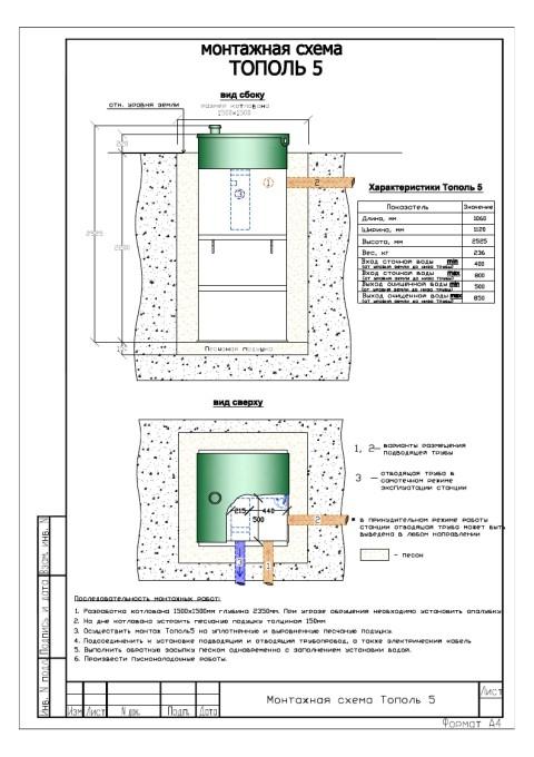 Монтажная схема Тополь 5