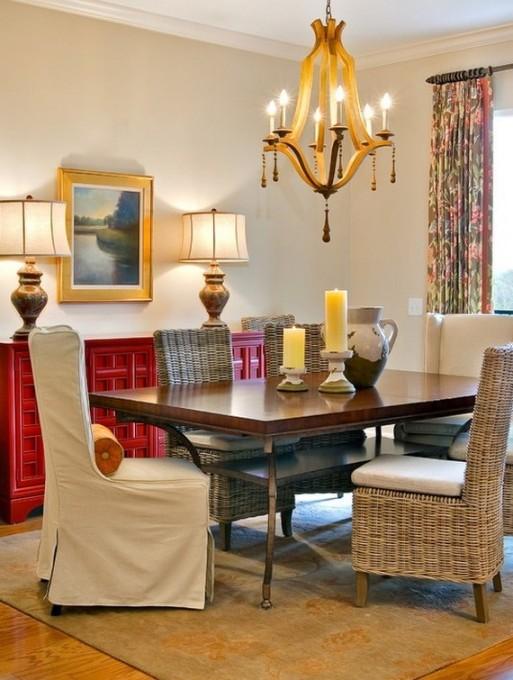Деревянная люстра в интерьере гостиной фото