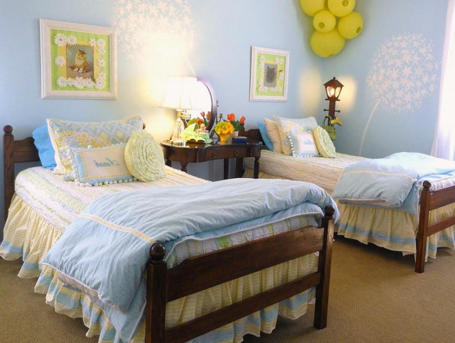 Фото детской комнаты для 2 девочек