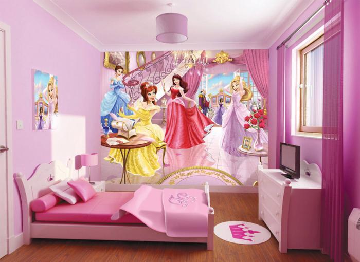 Диснеевские мотивы в детской для девочки