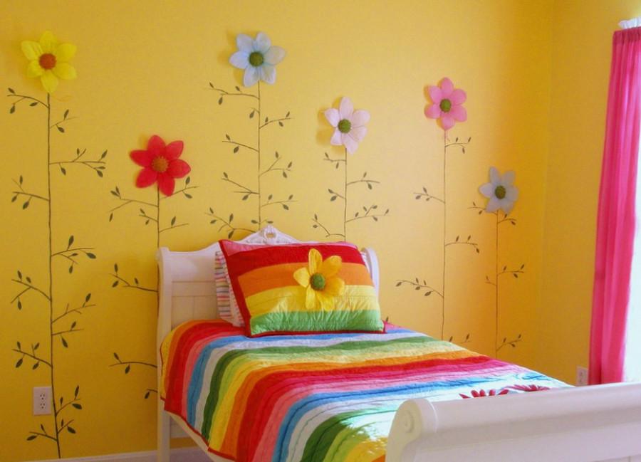 Фото фрагмента дизайна детской комнаты для девочки