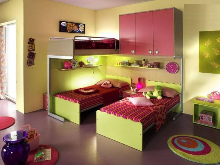 Интерьер зоны для сна в детской