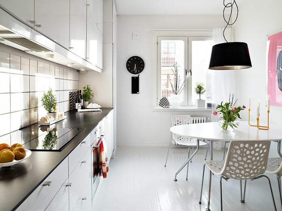 Кухонный дизайн интерьера в скандинавском стиле фото