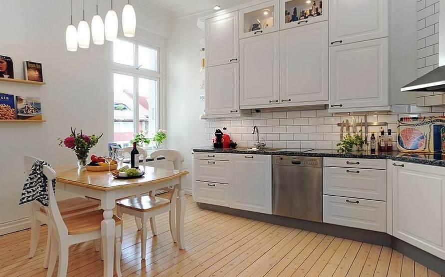 Пол в скандинавском стиле кухни