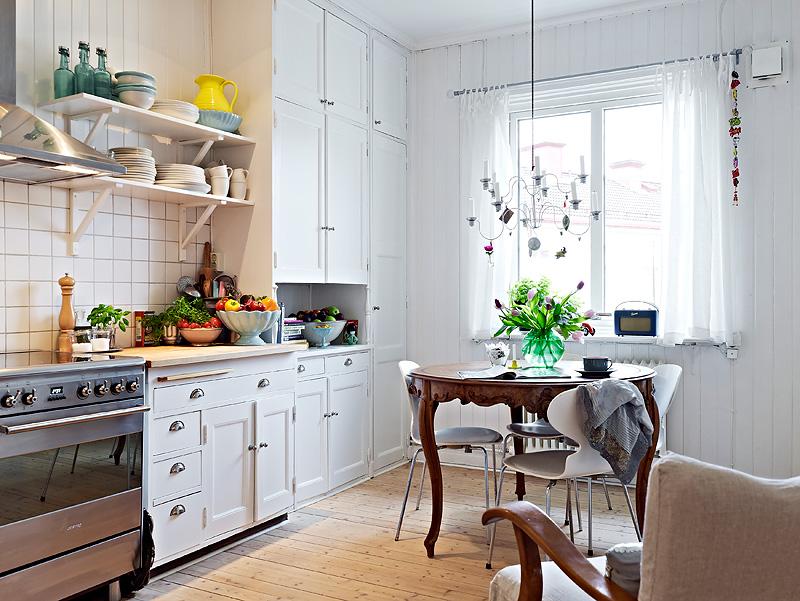 Фото маленькой кухни в скандинавском стиле