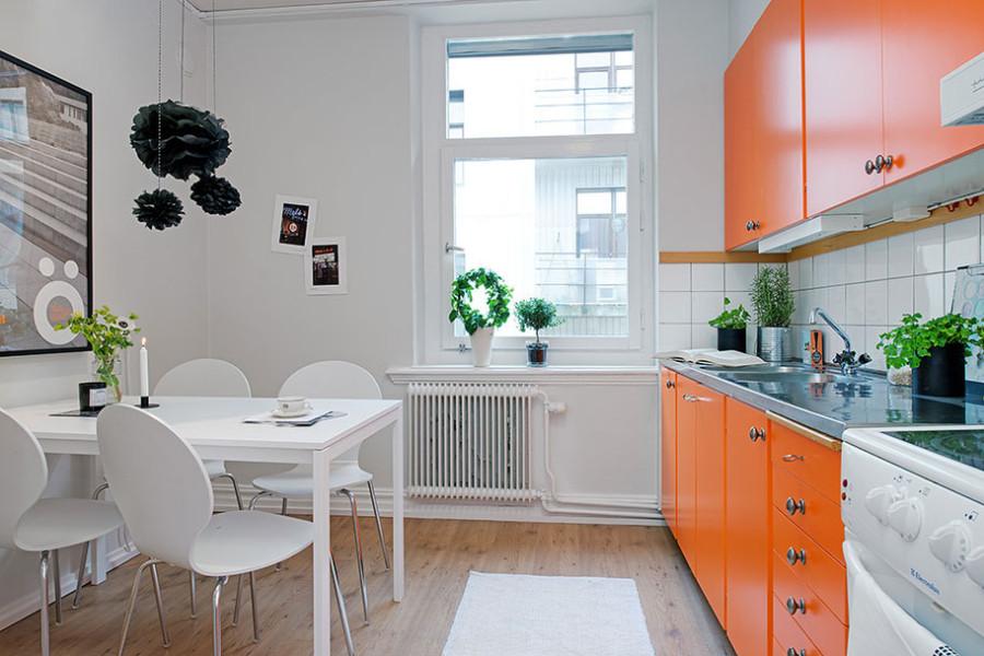 Фото белой кухни в скандинавском стиле