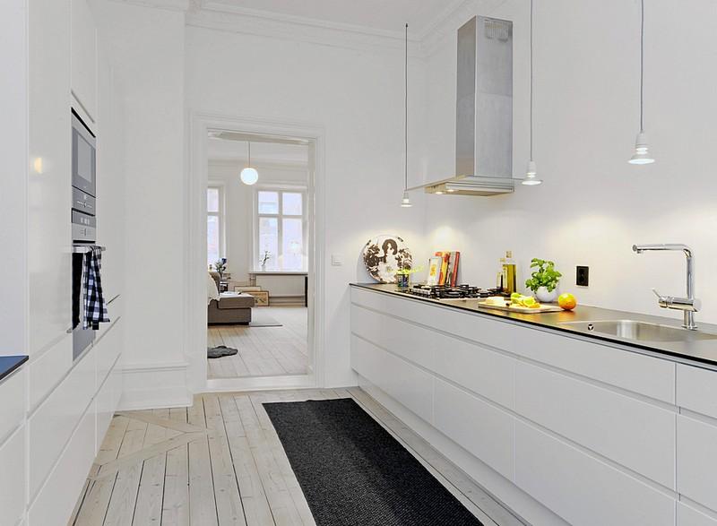 Скандинавский дизайн в интерьере кухни