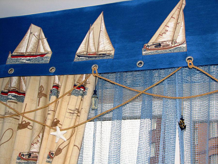 """Фото красивых штор в детскую для мальчика """"Будущий капитан"""""""