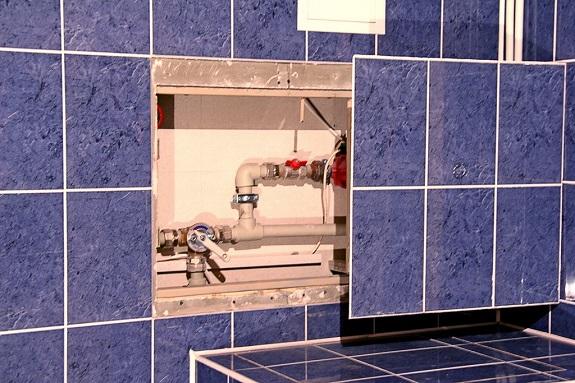 Дверца ревизионного люка облицованная плиткой