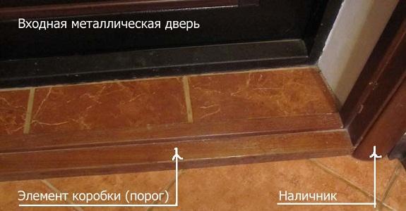 Конструкция деревянного порога входной двери