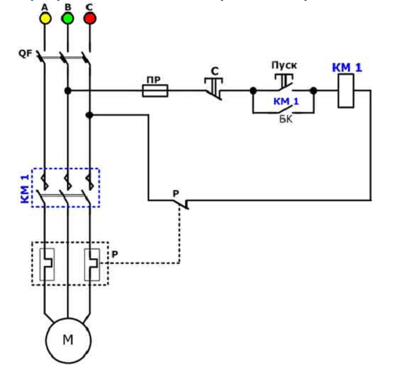 Принцип работы устройства во время перегруза цепи