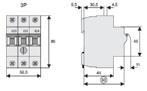 Схема автоматического выключателя с тепловой защитой
