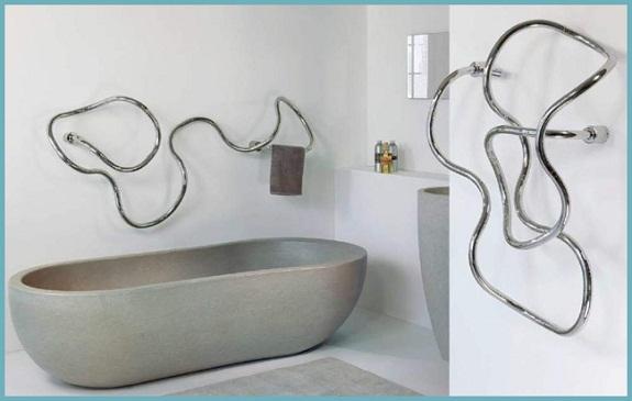 Оригинальный дизайн кабельного полотенцесушителя