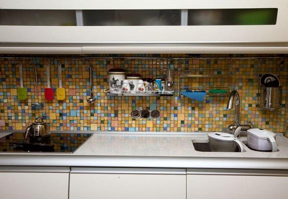 Мозаика в оформлении кухонного фартука