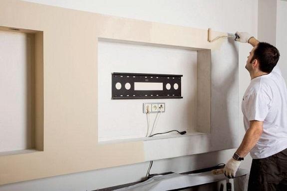 Оформление и отделка ниши под телевизор