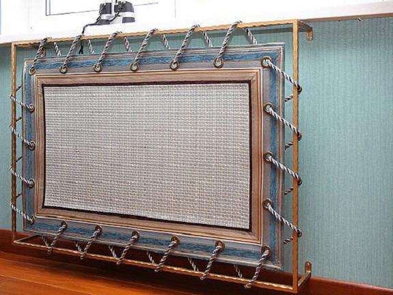 Оригинальное оформление экрана на радиатор отопления