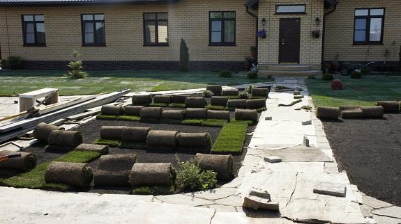Рулонный газон до укладки