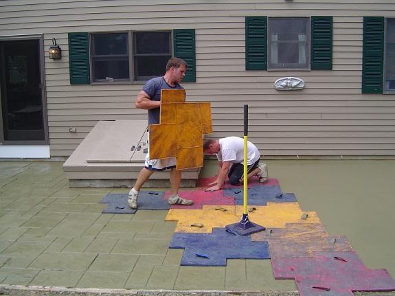 Штамповка бетона