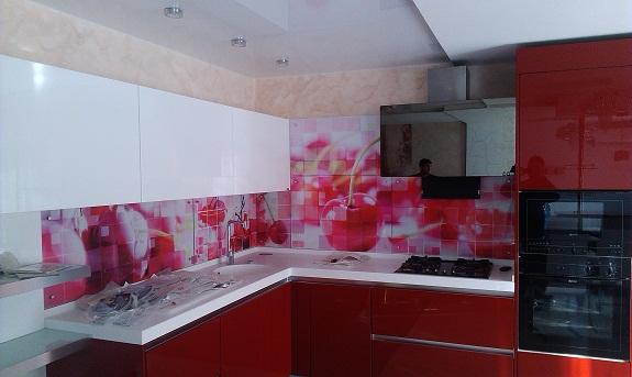 Пример средней линии кухни