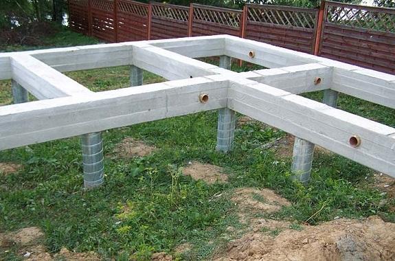Свайно-ростверковый фундамент для теплоблоков