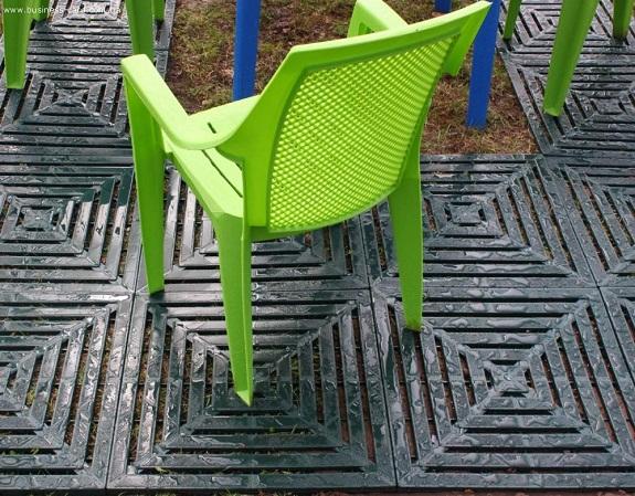 Установленная тротуарная плитка