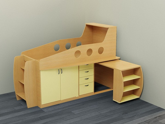 Детская кровать-чердак с ящиками