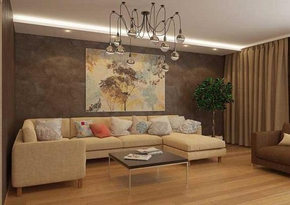 Дизайн гостиной 20 квадратов