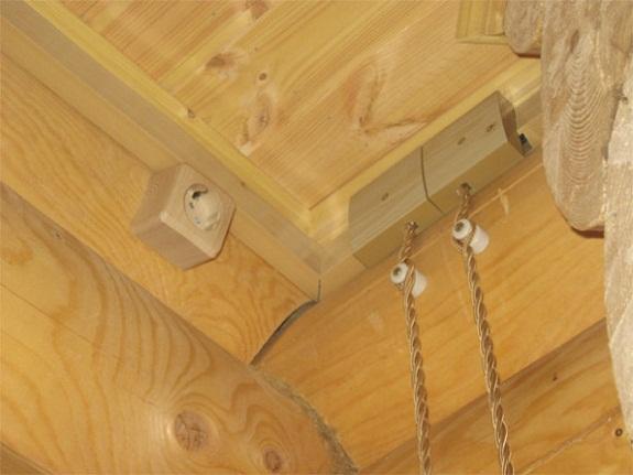Очень важно подобрать ретро-проводку под дизайн помещения