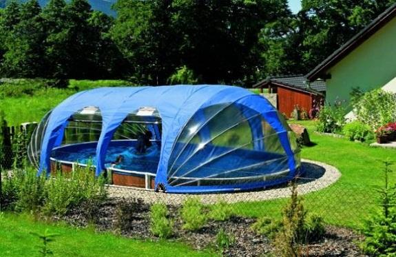 Павильон-шатер для бассейна на дачу