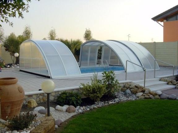 Павильон для бассейна на дачу