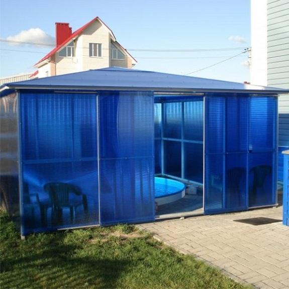 Самодельный павильон для бассейна